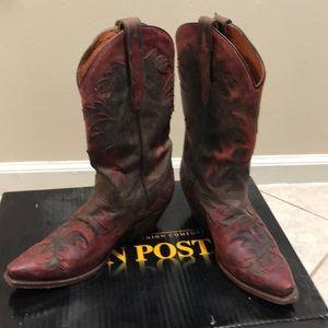 Dan Post chocolate red cowboy boots sz 8